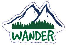 Wander Custom Vinyl Die Cut Sticker 3 x 2 Durable! Dishwasher-Safe/UV Protected!