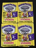 1986 Garbage Pail Kids Series 4 wax packs (4)  USA. 4 Wax Packs