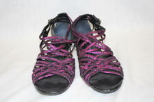 POUR LA VICTOIRE Vero Cuoio Pink Leather Gladiator Sandals Womens,11 Brazil-B117