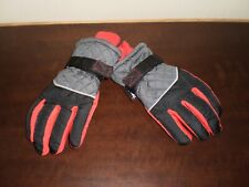 """Gloves""""Tu""""Thinsulate Insulation 3M Black,Grey,Red Mix Size: 7/10 Years,54 cm"""