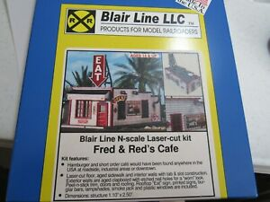 Blair Line N Scale Fred and Reds Cafe Kit  #090   Bob The Train Guy