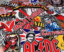 Job Lot 10 Large Music/Band Stickers/Decals Rock/Metal/Punk Guitar/Case/Laptop