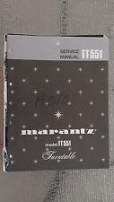 Marantz tt551 Service Manual stereo turntable record player original book