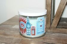 Bath & Body Works London Tea & Biscuits 3 Wick Candle 14.5 Oz