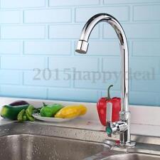 Moderno Mezclador De Lavabo Baño Cocina Latón Cromado Grifo Monomando Agua Fría