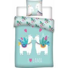 Parure de lit Lama, 140x200, 1 personne, parure de lit enfant, Housse de couette