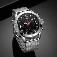 Herren Uhr Wasserdichte Multifunktions Quarz Geschenke Pro Armban Q2R5