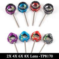 Archery Bow Scope Sight 2x 4x 6x 8x Lens Glass .019 Optical Fiber Pin Hunting