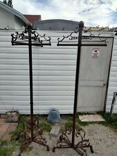 Large Wrought Iron Clothing Clothes Garment Rack Stand Retail Display