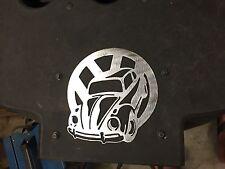 Plasma cut VW Bug logo Metal Man Cave/Garage Wall Art