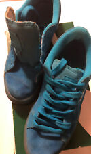 Puma Suede Iced Fluo Jr Size 5.5 Atomic Blue