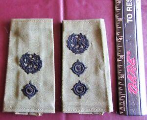 RHODESIAN ARMY CLOTH SHOULDER RANK SLIDES, 2 DIFFERENT RANKS