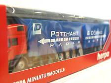 Herpa 146104 MAN F 2000 Gardinenplanenhängerzug Potthast & Döring OVP (G5935)