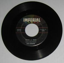 """Fats Domino - USA 45 - """"What A Price"""" / """"Ain't That Just Like A Woman"""" - VG"""