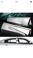 For Dodge Charger Srt Sxt Stainless Mirror Chrome Door Pillar Post Trim Kit 6Pcs