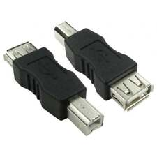 USB 2.0 Type A Female to Type B Male Adaptor Converter Black Adapter