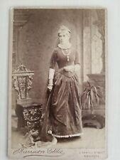 Cabinet Card - Mrs Ida Kendall, By Harrison Goldie, 7 Temple Street, Swansea