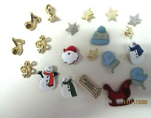 BUTTONS.. ASSORTED LOT OF 20..CHRISTMAS DESIGNS