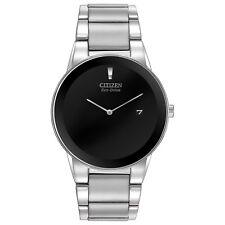 Citizen Eco-Drive Men's AU1060-51E Axiom Black Dial Silver-Tone 40mm Watch
