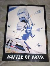 STAR WARS GALAXY BATTLE OF HOTH POSTER! ECHO BASE WALKERS SNOWSPEEDERS!!