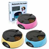 6 Meals Timed LCD Digital Automatic Pet Feeder Auto Dog Cat Food Bowl Dispenser