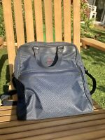Samsonite Blue Shoulder Travel Cabin Bag with Zip Pockets & Strap