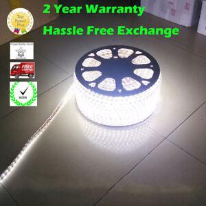 White Light AC 110 220V Waterproof Flexible LED SMD 5050 Strip Rope Light IP65