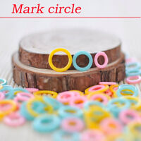 Plastic Ring Stitch Markers 60Pcs Pack Knitting Crochet Stitch Tool Marking Acc