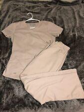 Grey's Anatomy Scrub Set Small Top/X Small Pant Khaki Small Spot-bottom Pocket