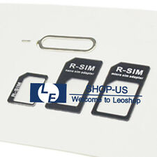 New Nano SIM Card to Micro Standard Adapter Converter Set for iPhone 6S 6 5S 5C