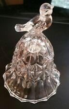 "Hofbauer G 00004000 erman Bird Bell 24% Lead Crystal Song Bird 3-3/4""H Vintage Clear Sound"