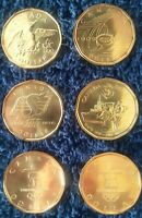 2008-2010 Canadian $1 Loonies Lot of 6 Comemmorative Coins Official RCM Series