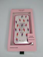 Kate Spade Jeweled Multicolor Parrot XS X iPhone Case Cover Clear Pink