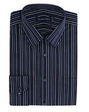 Camicie classiche da uomo nero a righe in cotone
