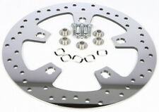 HARDDRIVE 144154 Front Touring Brake Rotor 11.8in Polished Drilled