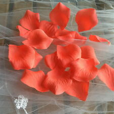 500 Coral Rose Petals Artificial Flower Petals For Wedding Aisle Runner Decor