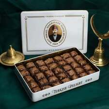 Turkish Handmade Chocolate Pistachio Baklava 2.87 lb- 1.30 kg in Metal Box