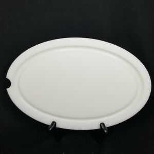 New Pampered Chef New Traditions Oval Carving Platter Insert Cutting Board Only