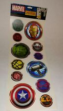 "MARVEL""SUPERHERO ICONS""COMICS REMOVABLE WALL DECAL AUTOCOLLANTS-PEEL OFF/PEEL ON"