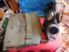 M9 Vietnam Era Gas Mask In Green Bag with ANTI-DIM CLOTH Can
