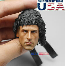 """1/6 Sylvest Stallone RAMBO Head Sculpt For 12"""" Hot toys PHICEN Male Figure USA"""