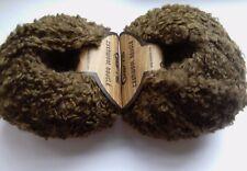 2 x 50g Cashmere Fine Quality Boucle Yarn, Khaki Green. Knit/Crochet/Weave