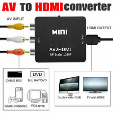 MINI RCA TO HDMI CONVERTER ADAPTER 1080P AV INPUT TO HDMI VIDEO OUTPUT USA