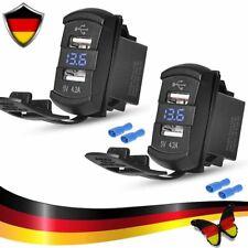 12V Auto Steckdose USB Ladegerät 4.2A Wasserdicht Buchse Motorrad KFZ Einbau DE