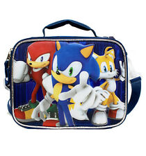 Sega SONIC THE HEDGEHOG Insulated LUNCH BAG Box Case Lunchbag Tote NEW!!