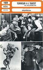 Movie Card. Fiche Cinéma. Terreur à l'Ouest/The Oklahoma Kid (USA) 1939 L. Bacon