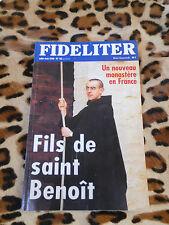 Revue - FIDELITER n° 136, 2000 - Fils de saint Benoît