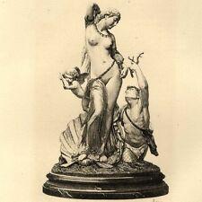 Sculpture La toilette de Vénus Nu Puttis Gravure Paul Rajon 19e siècle