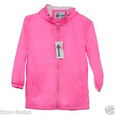 Children Kids Raincoat  Windbreaker Jacket  Towel Lined NEON PINK  Size 10