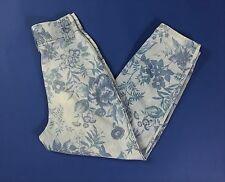 Wild dinamic W29 42 44 jeans mom hot boyfriend blu usato usati floreale T1244